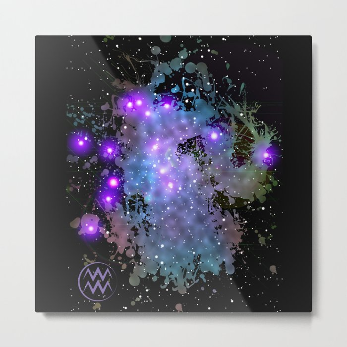 The Zodiac Sign -- Aquarius Metal Print