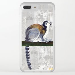 Ring tailed lemur Clear iPhone Case