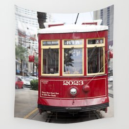 New Orleans 2023 Canal Streetcar Wall Tapestry