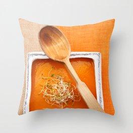 Pumpkin soup Throw Pillow