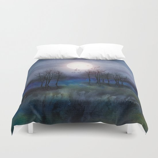 Calling The Moon Duvet Cover