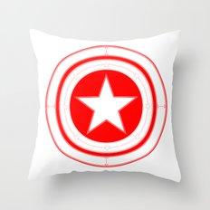 Capitaine Amérique Throw Pillow