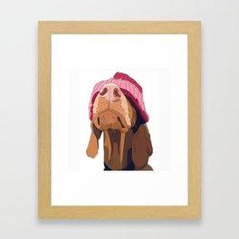 Hipster Vizsla Framed Art Print