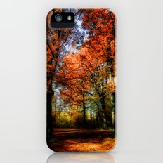 red fall iPhone (5, 5s) Slim Case