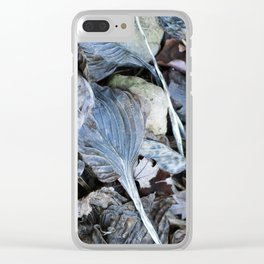The Nature of Leaves - a Midwest Winter Clear iPhone Case