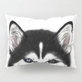 Husky different eyes Pillow Sham