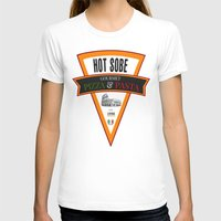 pasta T-shirts featuring Hot Sobe Gourmet Pizza & Pasta by vibrains
