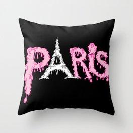 Paris is melting.... Throw Pillow