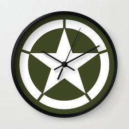 US Army Star Wall Clock