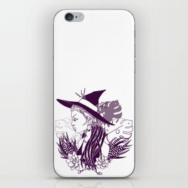 Monstera Witch iPhone Skin