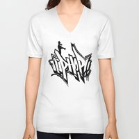 hip hop V-neck T-shirts featuring Hip Hop by Michael Jordan