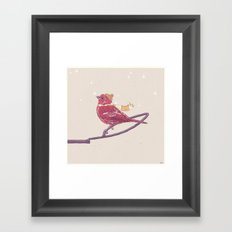 Winter Finch Framed Art Print