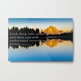 Einstein Quote On Nature Metal Print