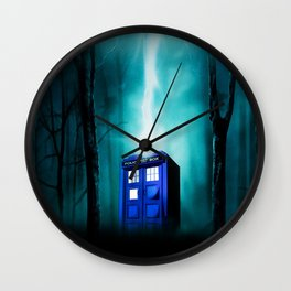 TARDIS BLUE EXPLODES Wall Clock