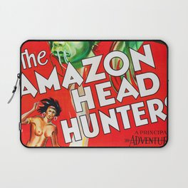 The Amazon Head Hunters  - Vintage Film Poster Laptop Sleeve