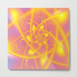 Atomic Sun Fractals Metal Print