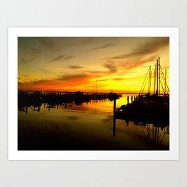 sailor sunset Art Print