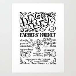 Diagon Alley Farmers' Market Art Print