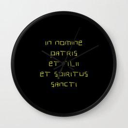 In nomine patris et filii et spiritus sancti 2 Wall Clock