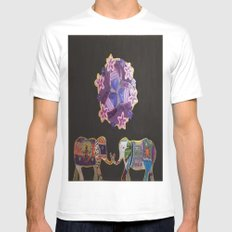 DalEphant White Mens Fitted Tee MEDIUM