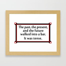 The past, the present, and the future... Framed Art Print