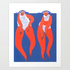 Keep Swimming Art Print