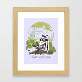 Birdwatcher (greens) Framed Art Print