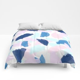 Blue and Pink Paint Comforters