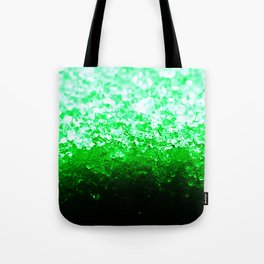 Emerald Green Ombre Crystals Tote Bag