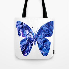 Fluid Butterfly (Blue Version) Tote Bag