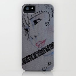Lord Krishna / Bal Gopal / Artist Amiee iPhone Case