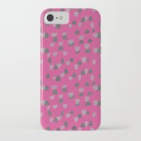 gray pattern iPhone & iPod Cases featuring Pink & Gray pattern by Georgiana Paraschiv