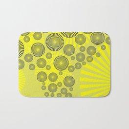 Space Spirals yellow Design Bath Mat