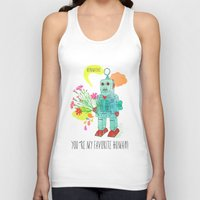 robot Tank Tops featuring Robot by Elisandra