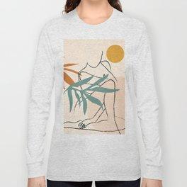 Minimal Line in Nature II Long Sleeve T-shirt