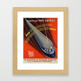 Vintage poster - The Comet Framed Art Print