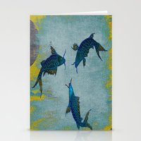 koi Stationery Cards featuring Koi  by Saundra Myles