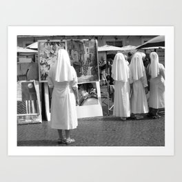 Market in the Piazza Art Print