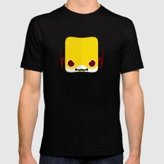 Marshmallow Reverse-Flash SMALL Black Mens Fitted Tee