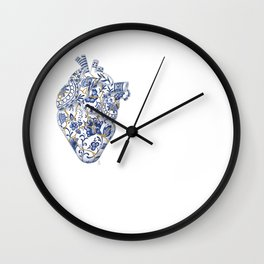 Broken heart - kintsugi Wall Clock