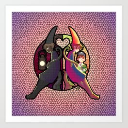 Through the Stained Glass Art Print