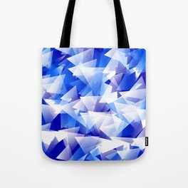 triangles in shades of blue Tote Bag