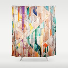 Pastel Tile Mosiac 1 Shower Curtain