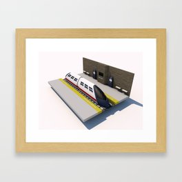 Underground Station Framed Art Print
