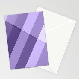 Ultra violet purple modern geometric lines Stationery Cards