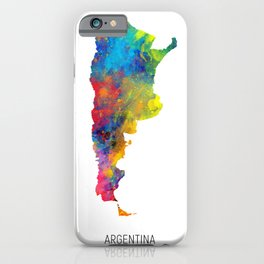 Argentina Watercolor Map iPhone Case
