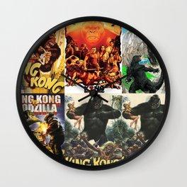 Godzilla vs King Kong, King Kong, poster, Art, Wall Clock