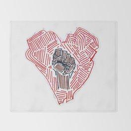 Untitled (Heart Fist) Throw Blanket