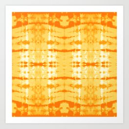 Satin Shibori Yellow Art Print