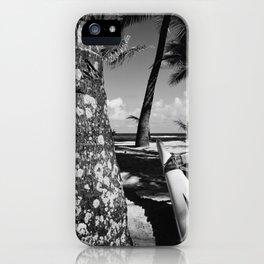 Kuau Beach Palm Trees and Hawaiian Outrigger Canoe Paia Maui Hawaii iPhone Case